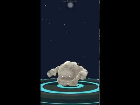[EVOLUTION] Geodude evolving into Graveler in Pokemon Go
