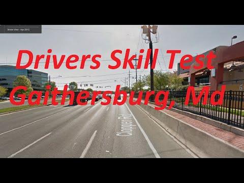 Driver Skills Test - Gaithersburg, Maryland MVA