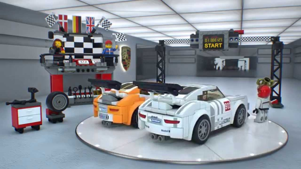lego 75912 speed champions porsche 911 gt finish line lego 3d review youtube. Black Bedroom Furniture Sets. Home Design Ideas