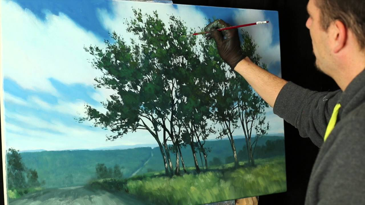 Oil painting tips and tricks with Tim Gagnon - tree foliage ...