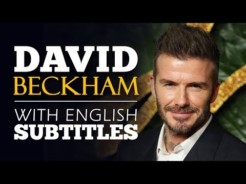 ENGLISH SPEECH | DAVID BECKHAM: It's Not Just A Game (English Subtitles)