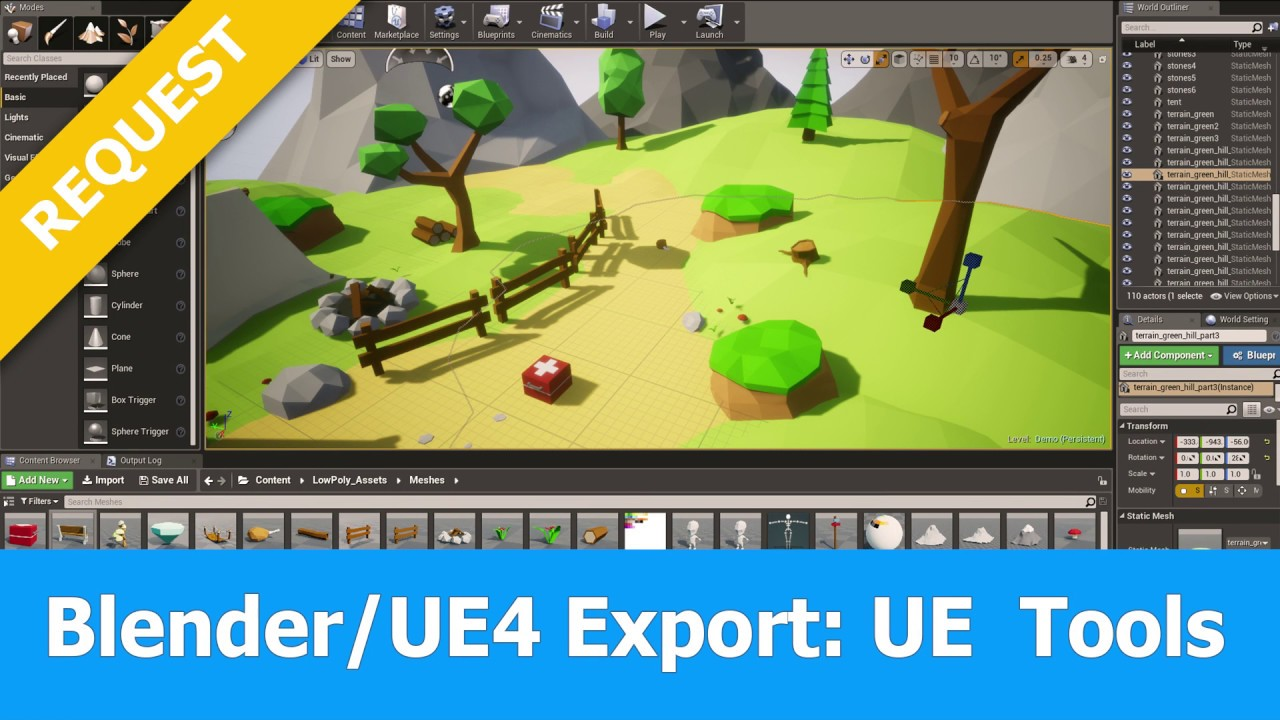 Blender Export to Unreal Engine 4 : UE Tools Addon