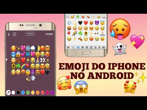 COMO TER EMOJI DO IPHONE NO ANDROID!! (método 2019) 🥰✨