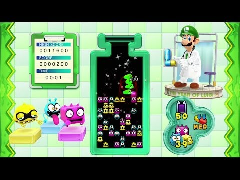 Dr. Luigi - Operation L Level 50-55 Playthrough (Classic/Med Speed) [Wii U]