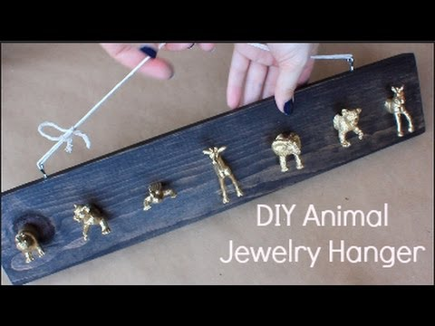 DIY Gold Animal Jewelry Hanger YouTube