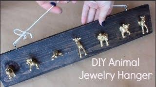 DIY Gold Animal Jewelry Hanger