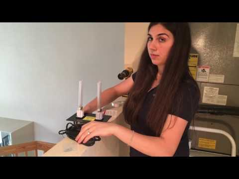 How to install UV Light G200 120v system inside your A/C  Air conditioning duct.