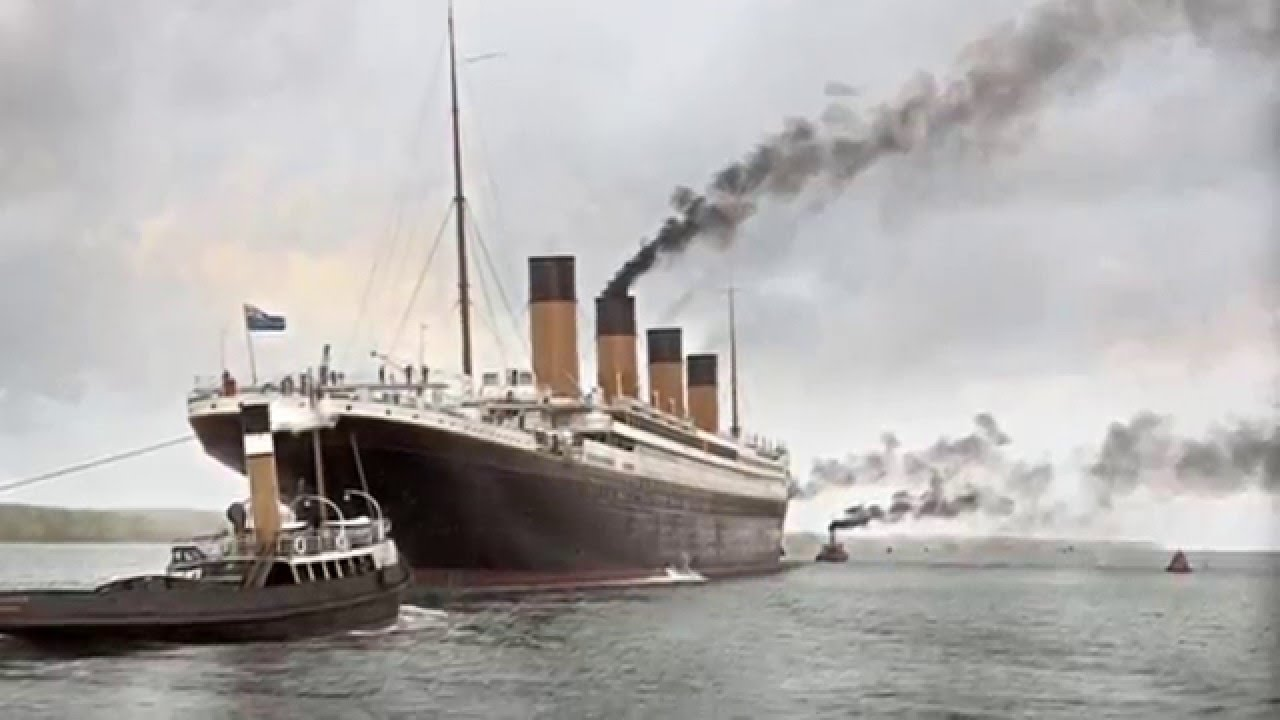 Rms Titanic In Colour Youtube