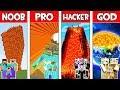 Minecraft NOOB vs PRO vs HACKER vs GOD : FAMILY LAVA TSUNAMI in Minecraft! Animation