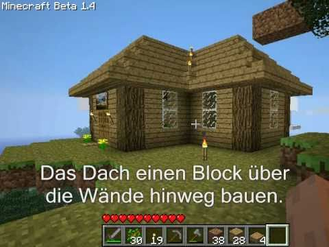 minecraft tutorial dach bauen youtube. Black Bedroom Furniture Sets. Home Design Ideas