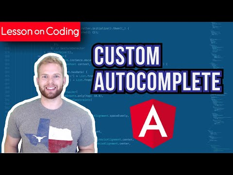 Custom Autocomplete with Angular 4