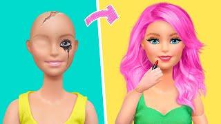 18 DIY Barbie Miniature Ideas / Makeup for Dolls