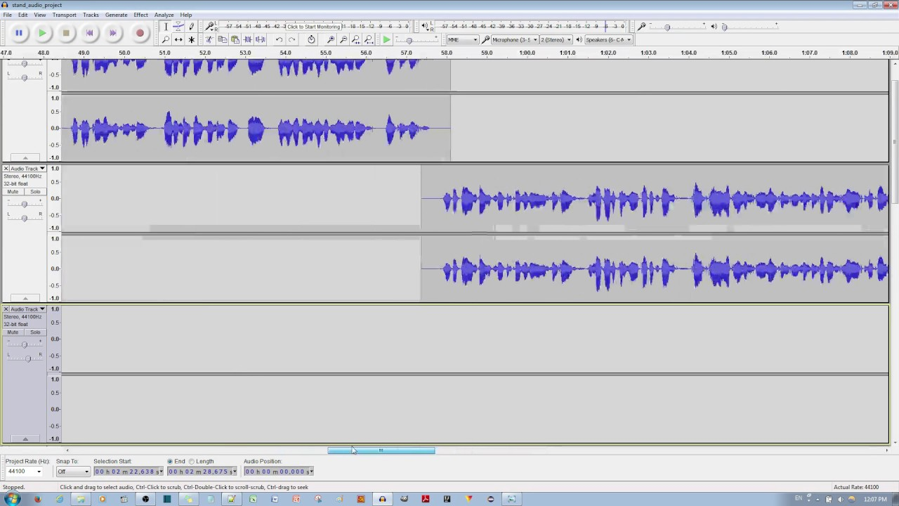 how to merge insert multiple tracks into one track in audacity youtube. Black Bedroom Furniture Sets. Home Design Ideas