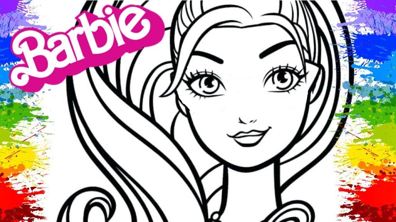 Colorir Desenho da Barbie doll Video Infantil Boneca Barbie Brinquedo crianças brincando jogo niña