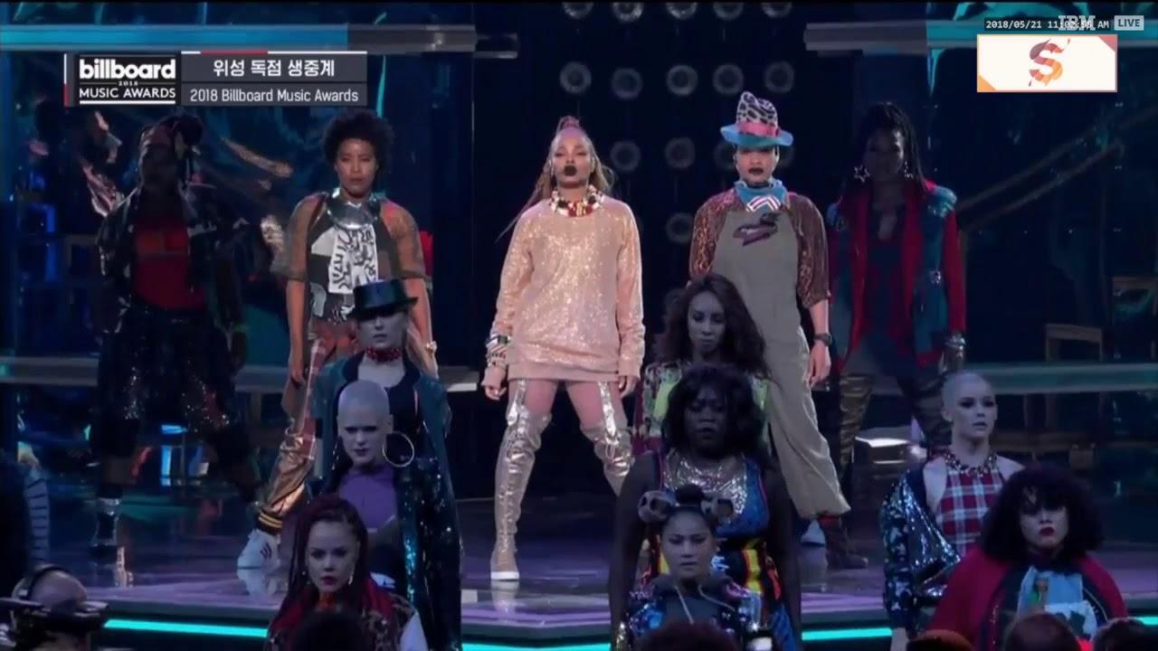 Janet Jackson - Nasty / If /Throb (Billboard Music Awards 2018)