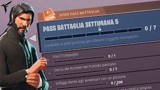 HOW TO COMPLETE the 5th week of PASS BATTLE !!! Fortnite ITA