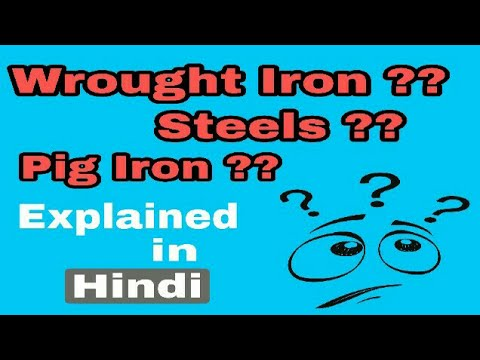 Wrought iron, pig iron, steel explained in Hindi