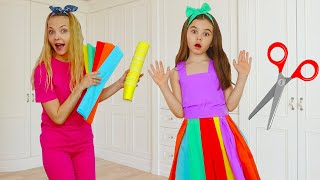 Polina makes a new Dress for Birthday - Cool DIY Ideas