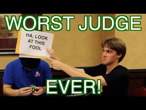 World's Worst Rubik's Cube Judge!! EVER! Part III | ColorfulPockets