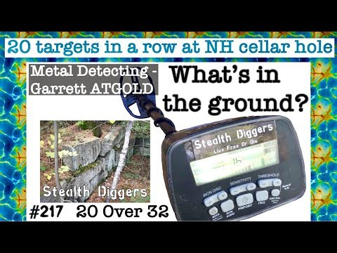 Whats in the ground  ? #217 20 targets in a row with Garrett ATGOLD metal detector