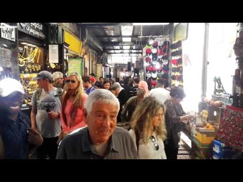 The Arab Market in the Old City of Jerusalem, Israel