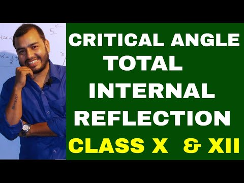 Critical Angle & Total Internal reflection : Prism ray diagram : Class X: ICSE