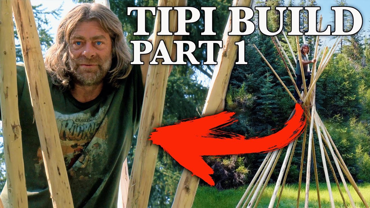 Building My New Off-Grid Rocky Mountain Home! | Tipi (Teepee) Build - Part 1