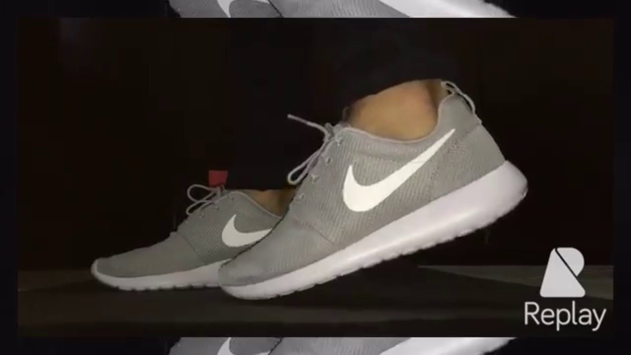 check out fc04f 45bea Nike Roshe One - Tênis no Pé - Cinza Wolf Grey - ON FEET! -
