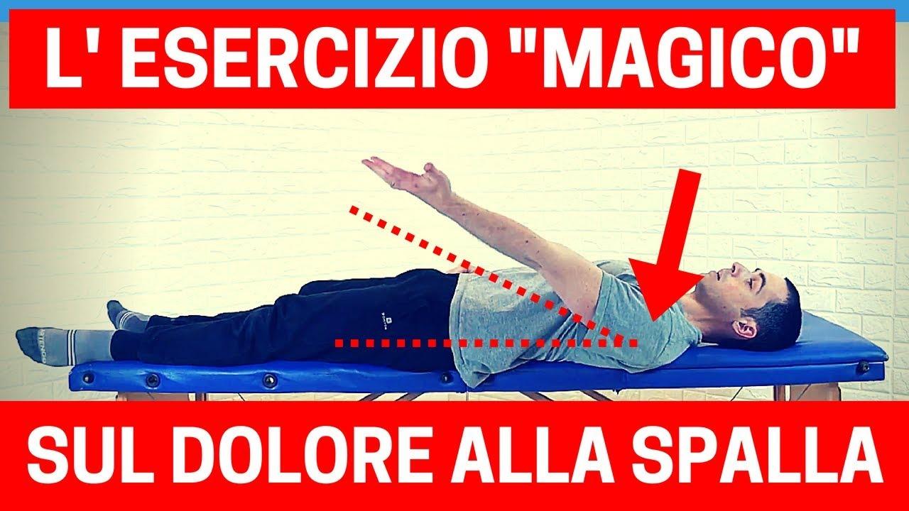 """L' """"esercizio magico"""" per battere il DOLORE ALLA SPALLA (periartrite, tendinopatia)"""