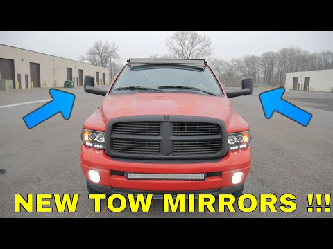 How to install TOW MIRRORS with turn signals on a  Dodge Ram (YITAMOTOR)