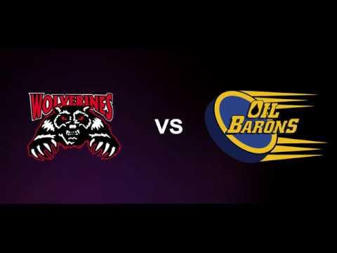 HIGHLIGHTS: Whitecourt Wolverines(5) vs Fort McMurray Oil Barons(2)
