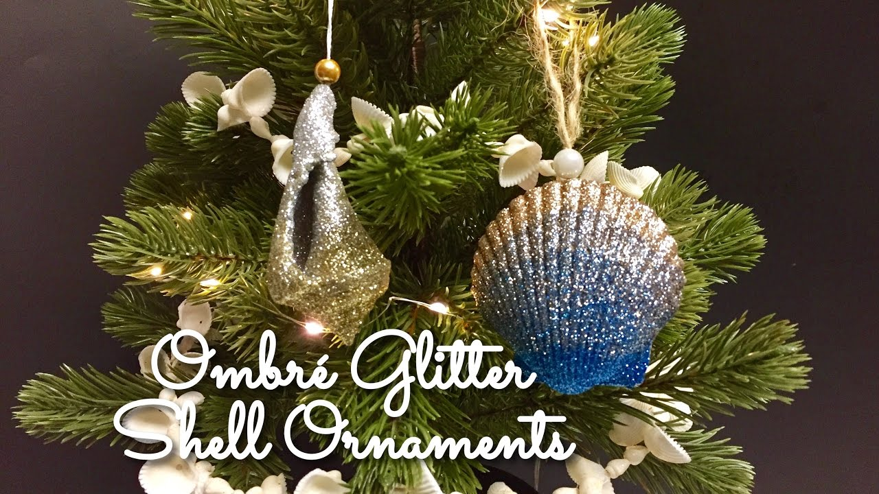 Diy Ombr 233 Glitter Shell Ornaments Seashell Christmas