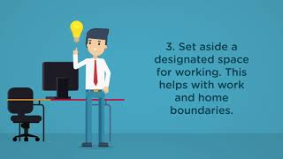 10 tips for wellbeing when working at home