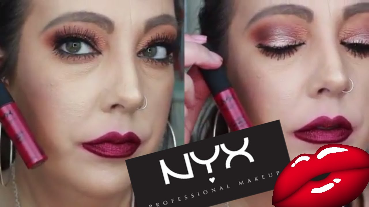 New Nyx Soft Matte Metallic Lip Cream Try On Review Youtube