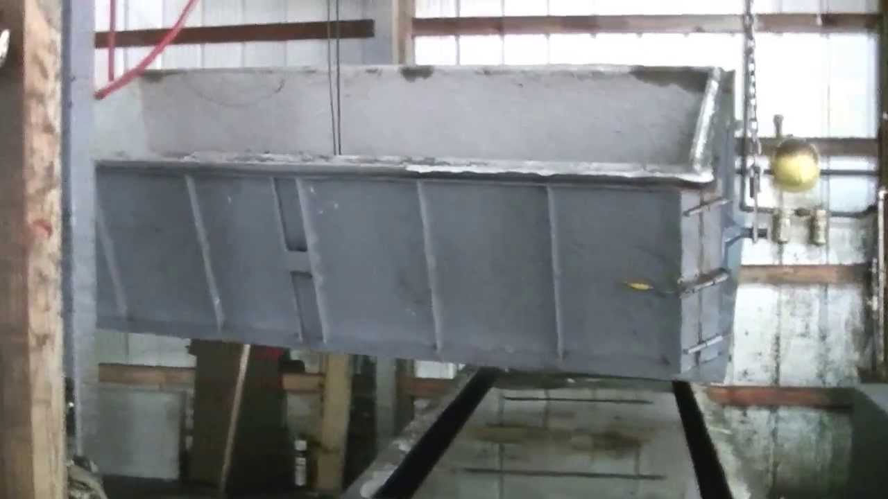 Concrete Burial Vault Forms : Concrete burial vault breakout process youtube