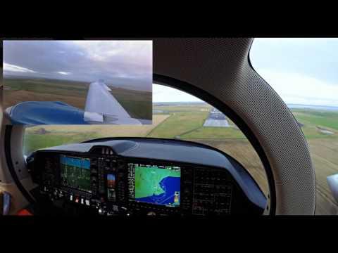 Diamond Aircraft DA62 Landing Wick EGPC - Cockpit [2K]