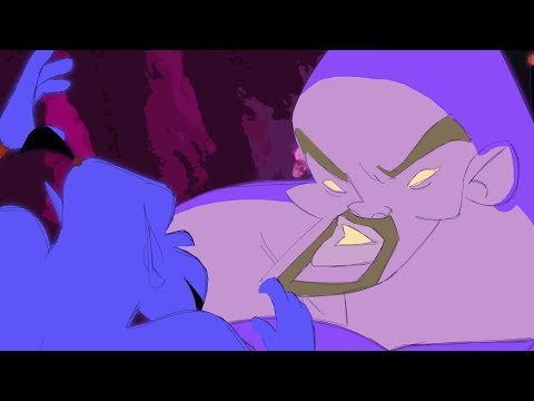 Aladdin 2019 Genie vs Aladdin 1992 Genie | Cartoon Fight Club