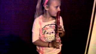 Playing The Recorder With Her Nose