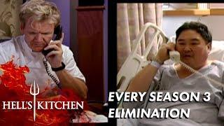 EVERY Season 3 Elimination On Hell's Kitchen