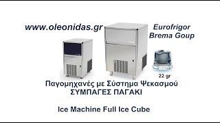 Επαγγελματικές Παγομηχανές με Αποθήκη Eurofrigor Brema Group Ice Machine Full Ice Cube