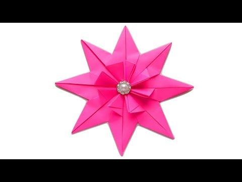 Как сделать звезду из бумаги  Оригами звезда из бумаги