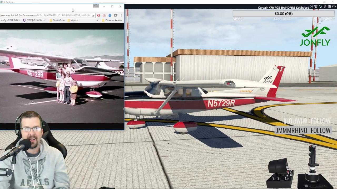 My childhood N5729R Livery! Cessnarox paints Jonfly X-plane 11