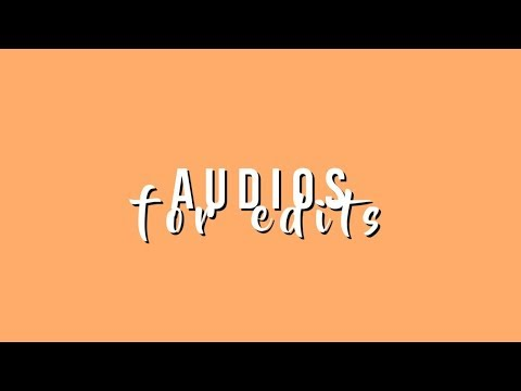 Audios for edits #1  Music Finder