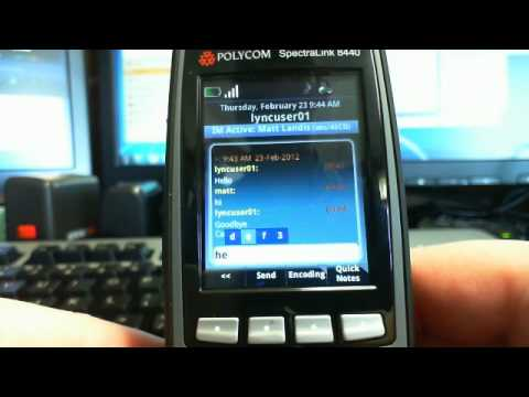 First Impression Review of Polycom Spectralink 8440 Lync Functionality