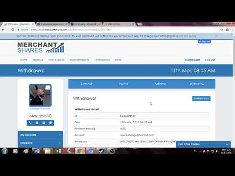 Merchant Shares – WITHDRAW EXITOSO!!!!!!