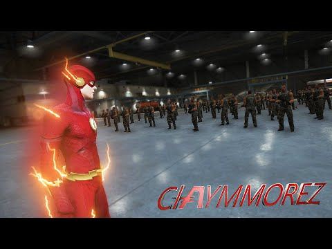 The Flash VS 100 Soldiers In FLASHTIME! And Bank Heist (GTA 5 Flash Mod)