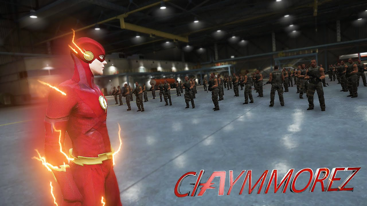 Download The Flash VS 100 Soldiers in FLASHTIME! And Bank Heist (GTA 5 Flash mod)