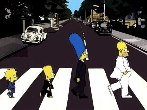 Simpsons abbey road youtube - The simpsons abbey road wallpaper ...