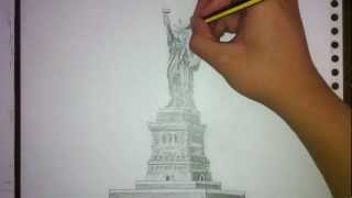 Time-Lapse Art | Statue of Liberty