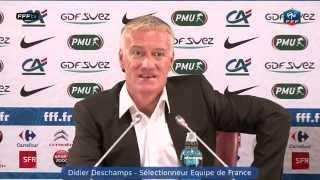 Conférence de Presse Didier Deschamps - liste de joueurs pour Finlande et Biélorussie